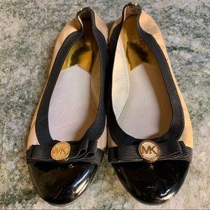 Michael Kors Tan/Black Dixie Ballet Flat